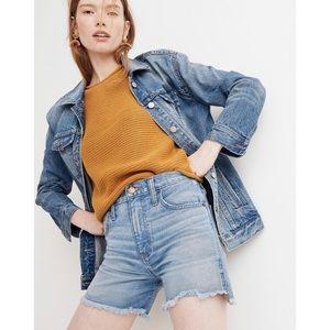 MADEWELL The Perfect Jean Shorts: Step Hem…